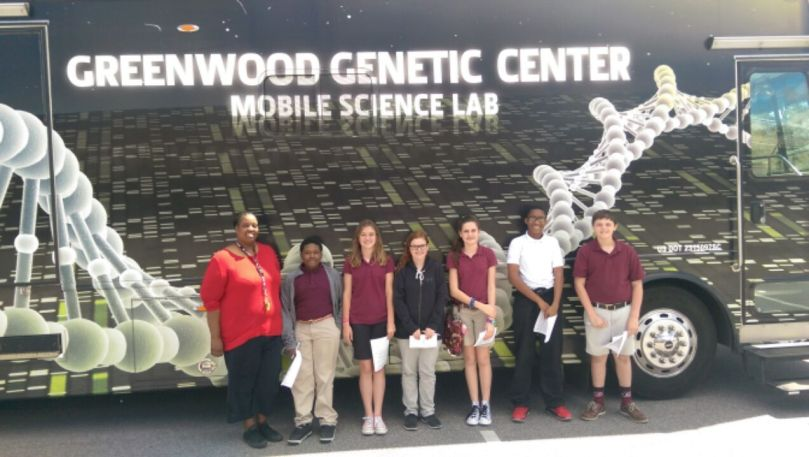 DNA Day Greenwood Genetic Center Mobile Science Lab